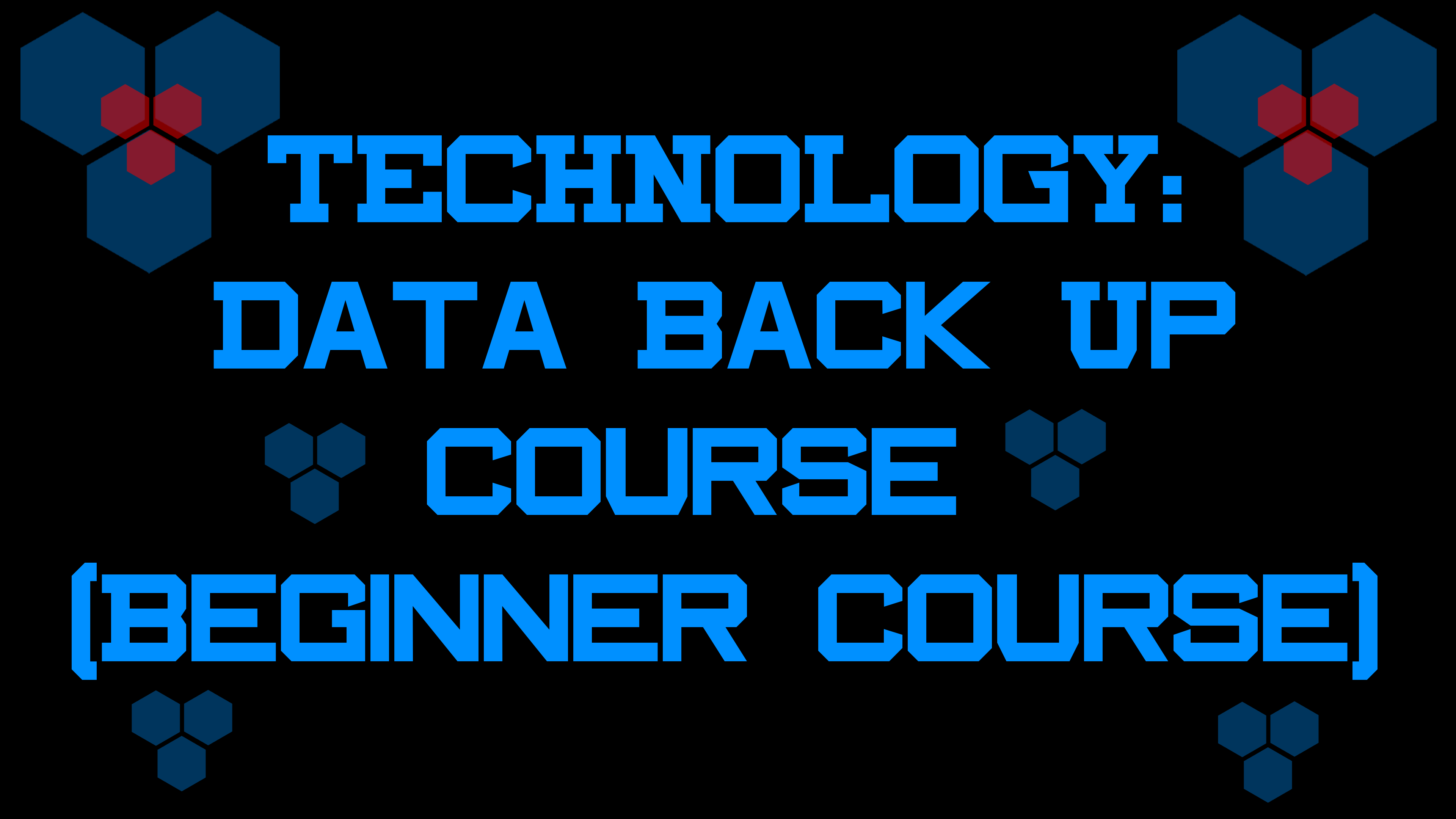 TECHNOLOGY: Data Back-Up Course